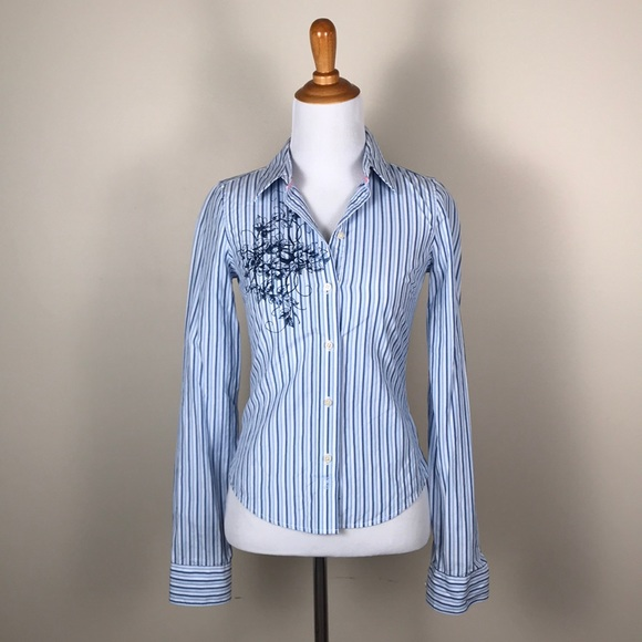 68652bbd Abercrombie & Fitch Tops | Abercrombie Fitch Striped Button Down ...